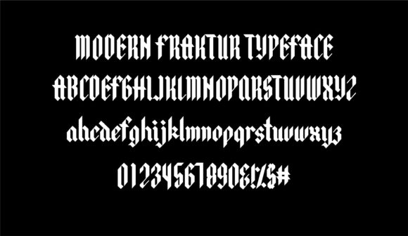 Print on Demand: Winterfall Blackletter Font By Jimmy Indra - Image 2
