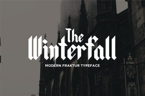 Print on Demand: Winterfall Blackletter Font By Jimmy Indra - Image 1