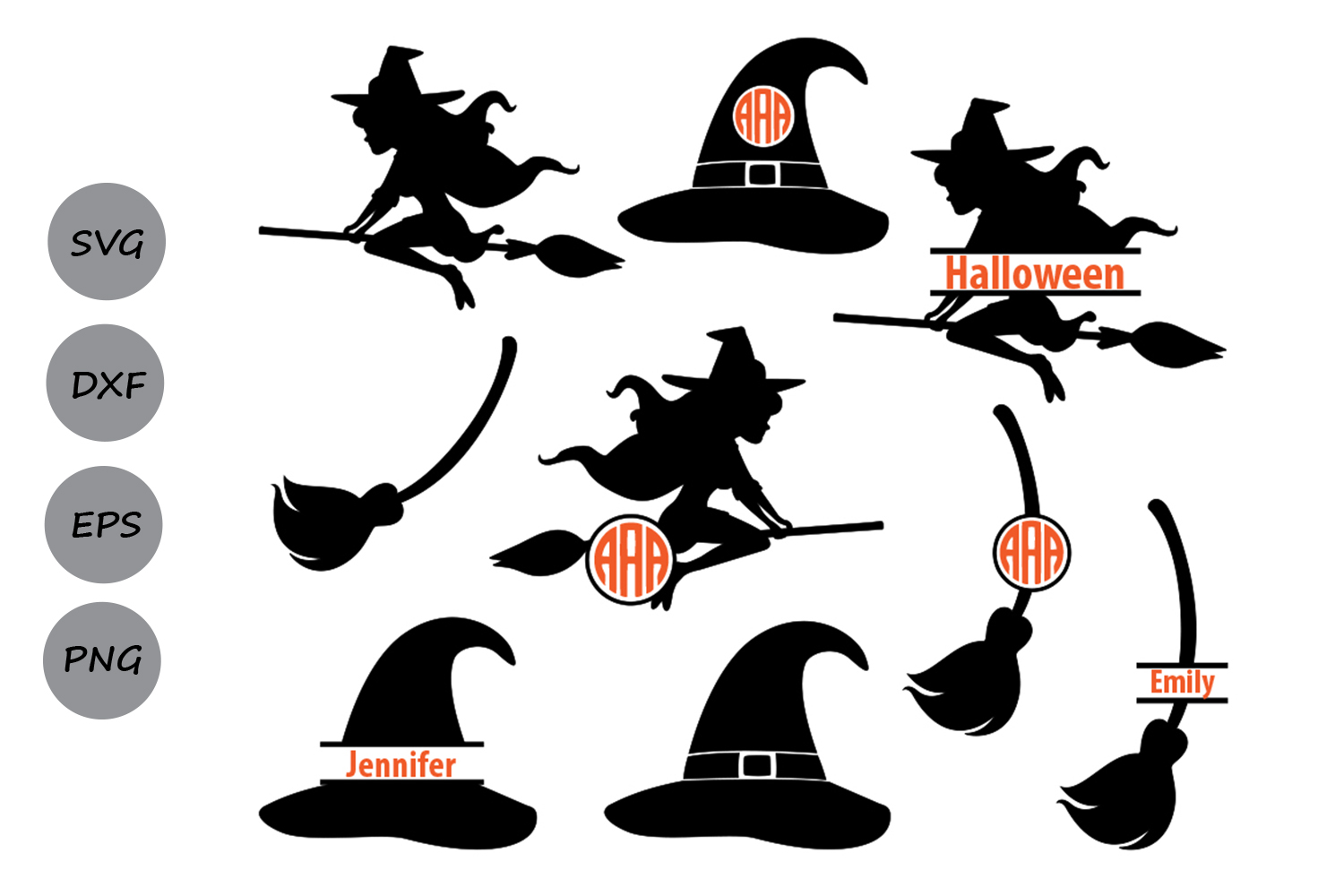 Witch Monogram Graphic By Cosmosfineart Creative Fabrica