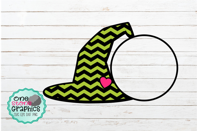 Download Free Witches Monogram Hat Svg Graphic By Onestonegraphics Creative for Cricut Explore, Silhouette and other cutting machines.