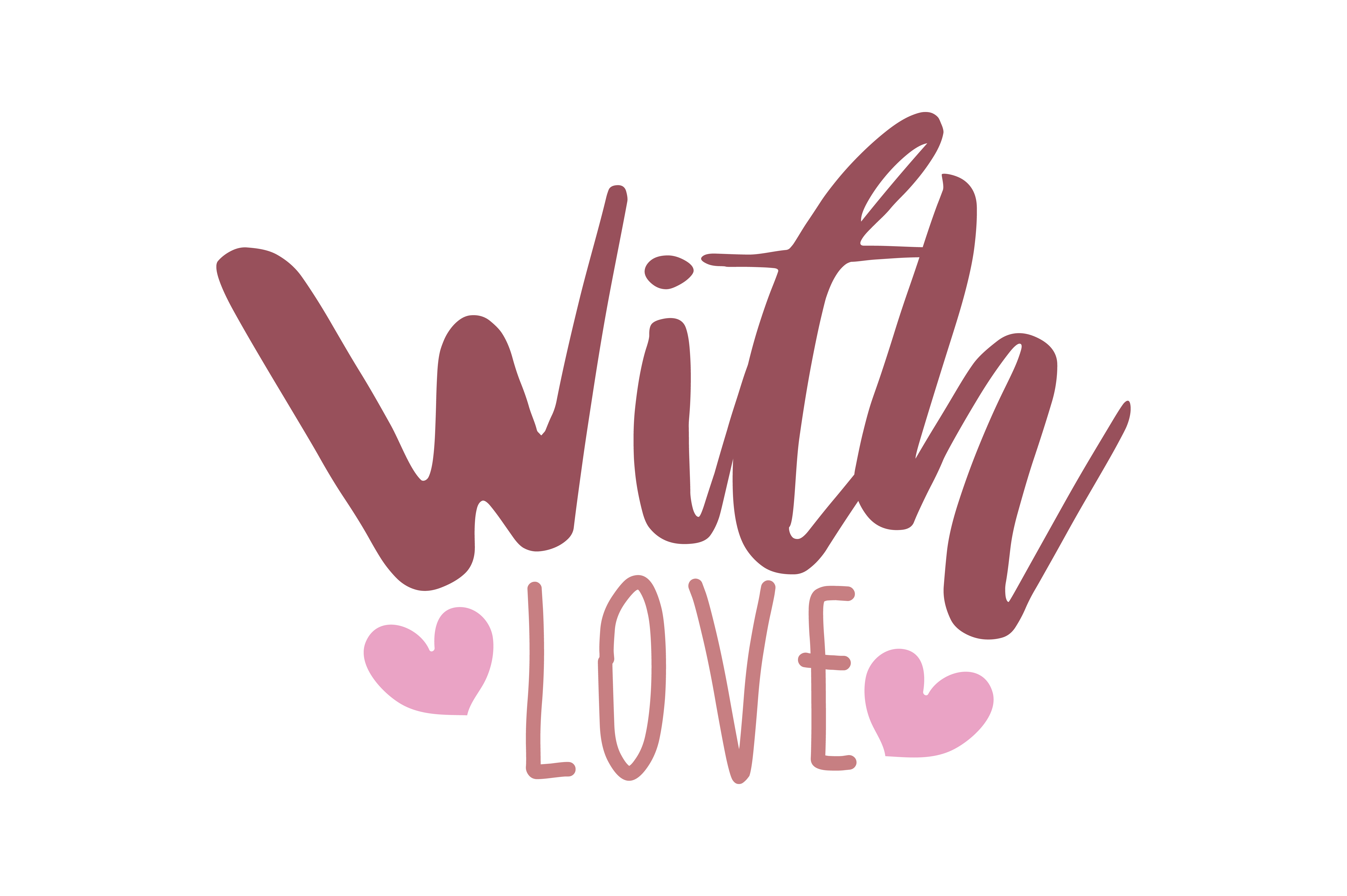 Download Free With Love Quote Svg Cut Graphic By Thelucky Creative Fabrica for Cricut Explore, Silhouette and other cutting machines.