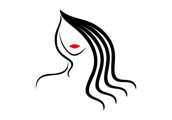 Download Free Women Beautiful Face Logo Vector Graphic By Deemka Studio for Cricut Explore, Silhouette and other cutting machines.