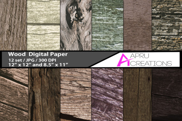 Print on Demand: Wood Digital Papers and Patterns Graphic Patterns By aparnastjp