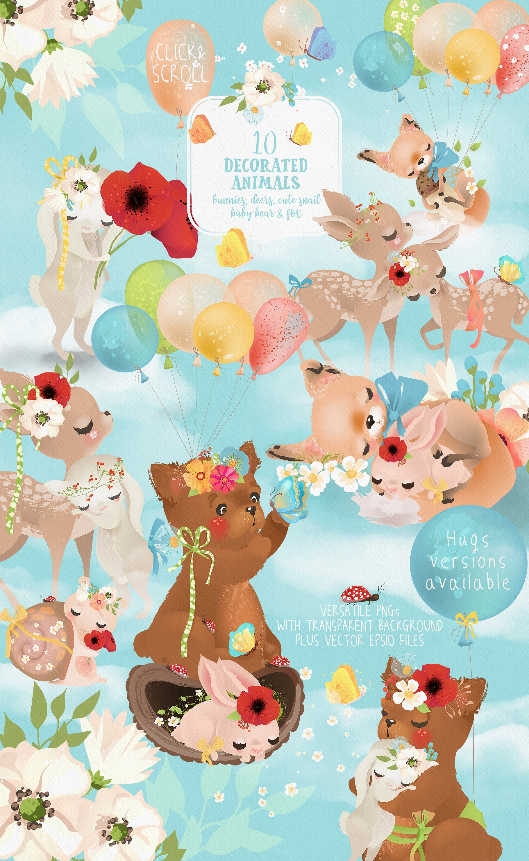 Download Free Woodland Babies Graphic By Anna Babich Creative Fabrica for Cricut Explore, Silhouette and other cutting machines.