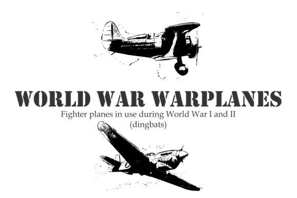 Print on Demand: World War Warplanes Dingbats Font By Intellecta Design