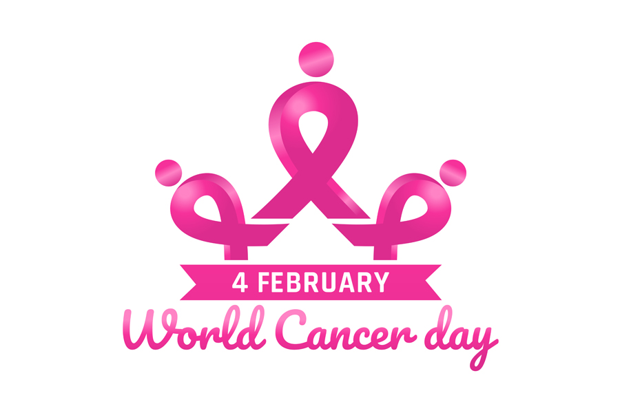 Download Free World Cancer Awareness Day Pink Ribbon Vector Graphic By Laks Mi for Cricut Explore, Silhouette and other cutting machines.