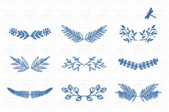 Wreaths and Dragonfly's Graphic Illustrations By anatartan - Image 4