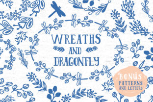 Wreaths and Dragonfly's Graphic By anatartan