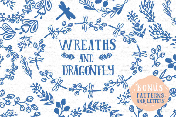 Wreaths and Dragonfly's Graphic Illustrations By anatartan