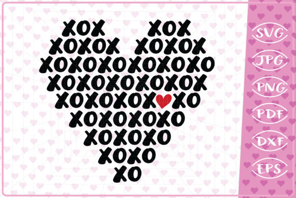 XOXOXO Heart Graphic By Cute Graphic Image 1