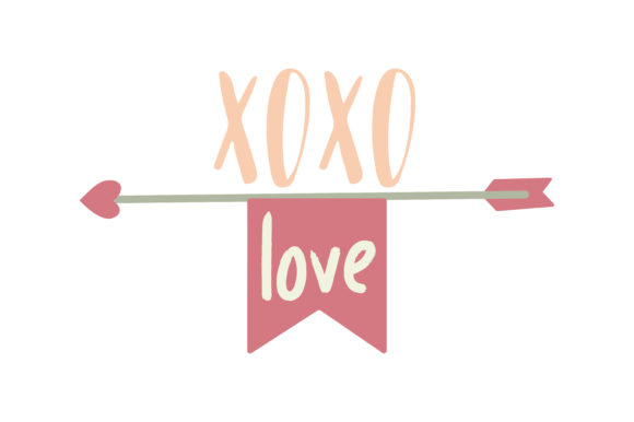 Download Free Xoxo Love Quote Arrow Graphic By Thelucky Creative Fabrica for Cricut Explore, Silhouette and other cutting machines.