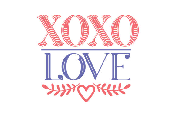 Download Free Xoxo Love Quote Svg Cut Graphic By Thelucky Creative Fabrica for Cricut Explore, Silhouette and other cutting machines.