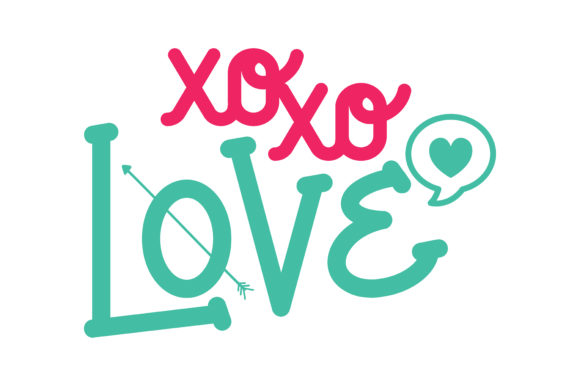 Download Free Xoxo Love Quote Graphic By Thelucky Creative Fabrica for Cricut Explore, Silhouette and other cutting machines.