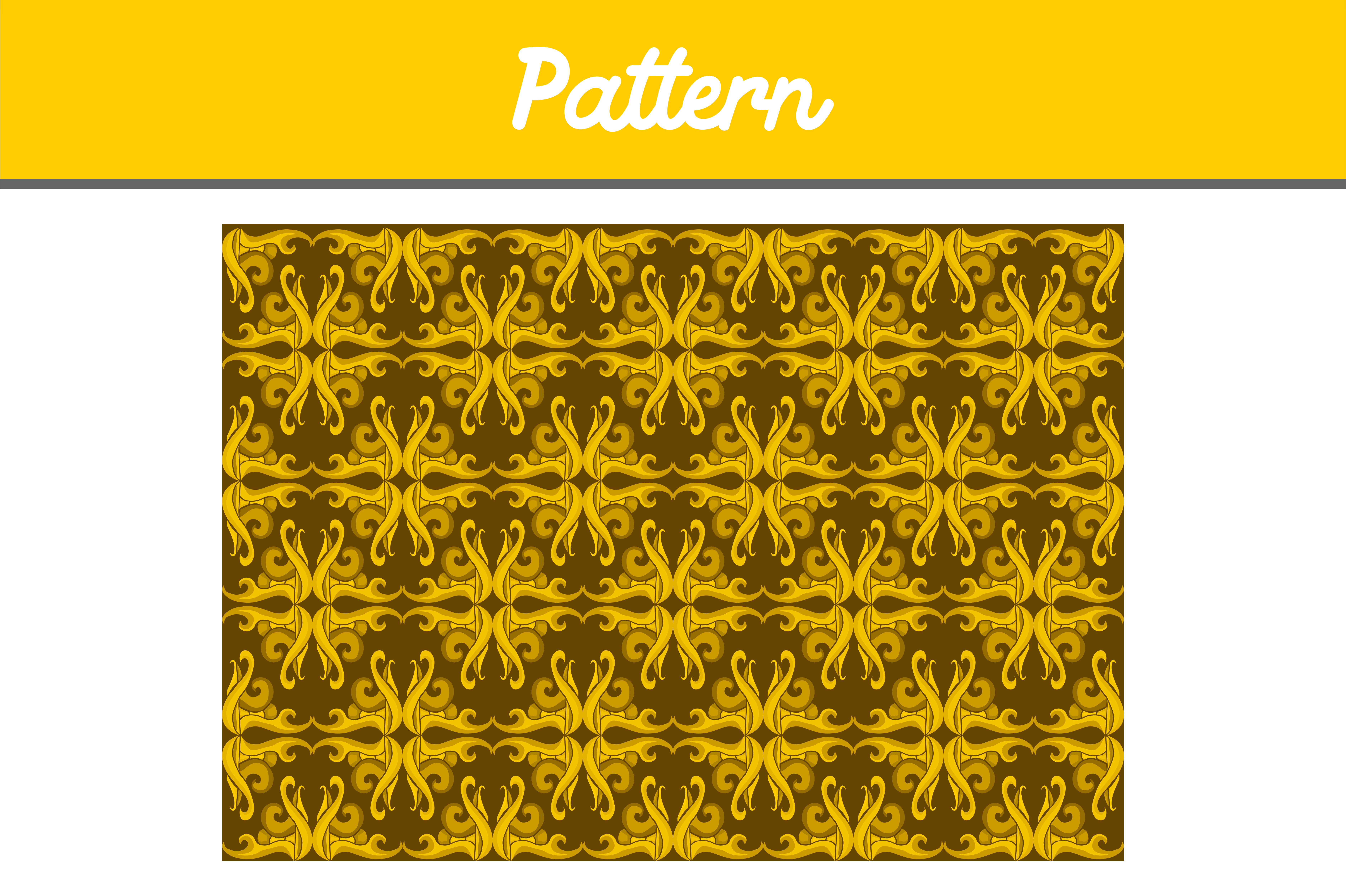 Download Free Yellow Background Ornament Pattern Graphic By Arief Sapta Adjie for Cricut Explore, Silhouette and other cutting machines.