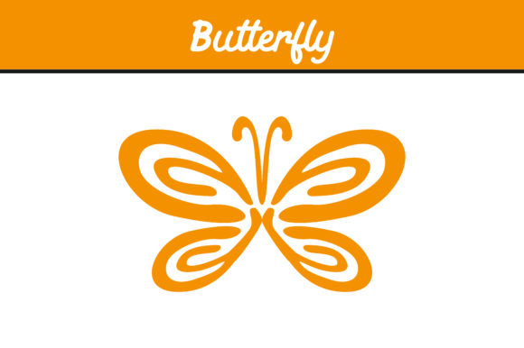Print on Demand: Yellow Butterfly Ornament Vector Graphic Icons By Arief Sapta Adjie