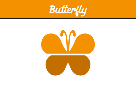 Print on Demand: Yellow Butterfly Vector Graphic Icons By Arief Sapta Adjie
