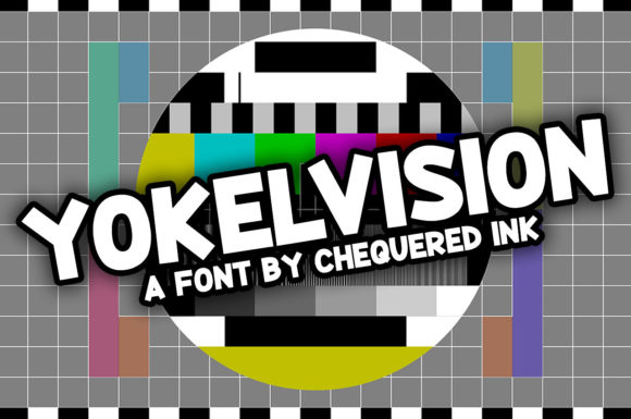 Print on Demand: Yokelvision Display Font By Chequered Ink
