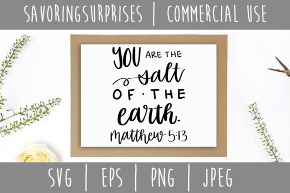 Download Free You Are The Salt Of The Earth Matthew 5 13 Svg Graphic By SVG Cut Files