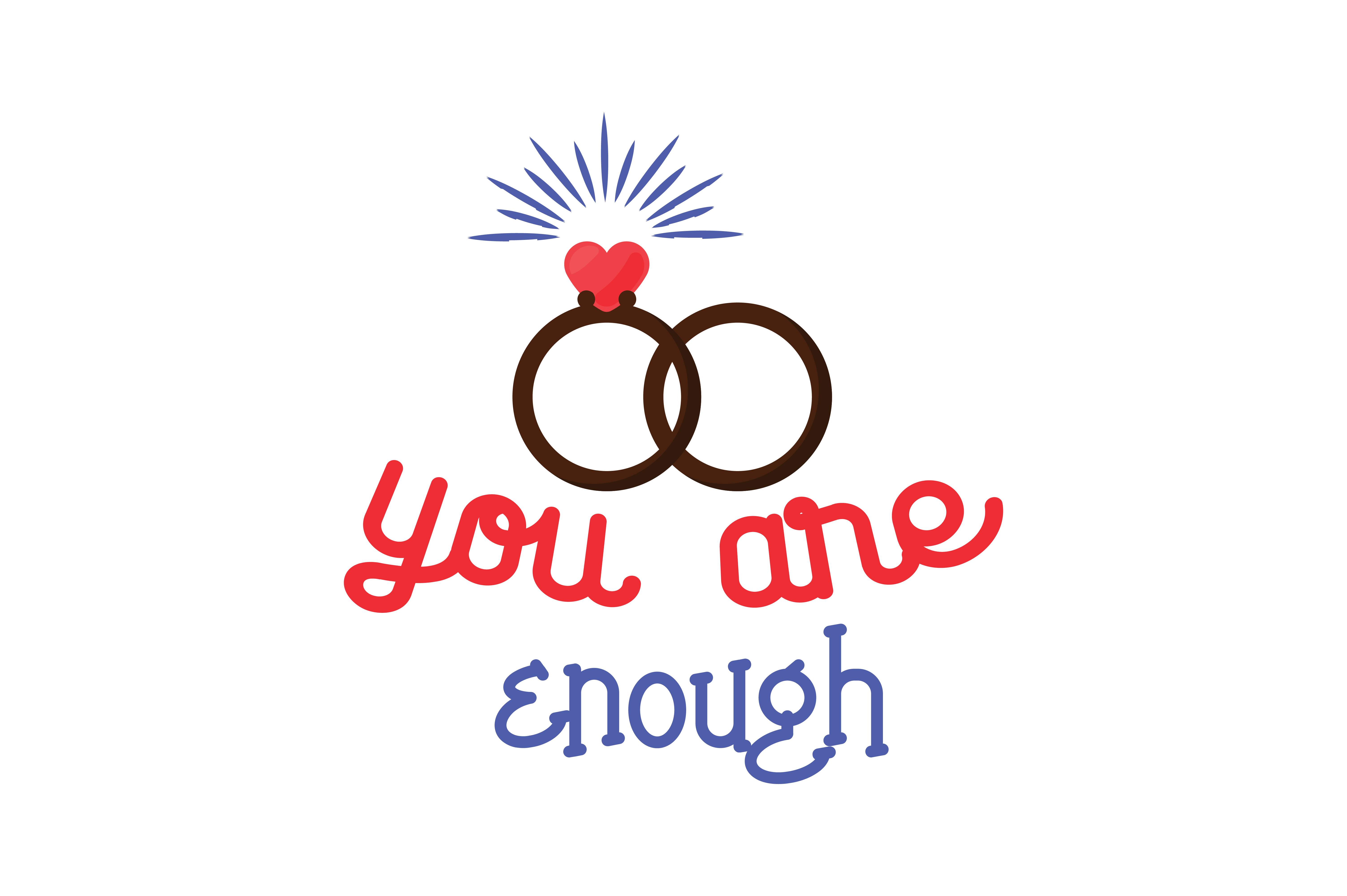 Download Free You Are Enough Quote Svg Cut Graphic By Thelucky Creative Fabrica for Cricut Explore, Silhouette and other cutting machines.