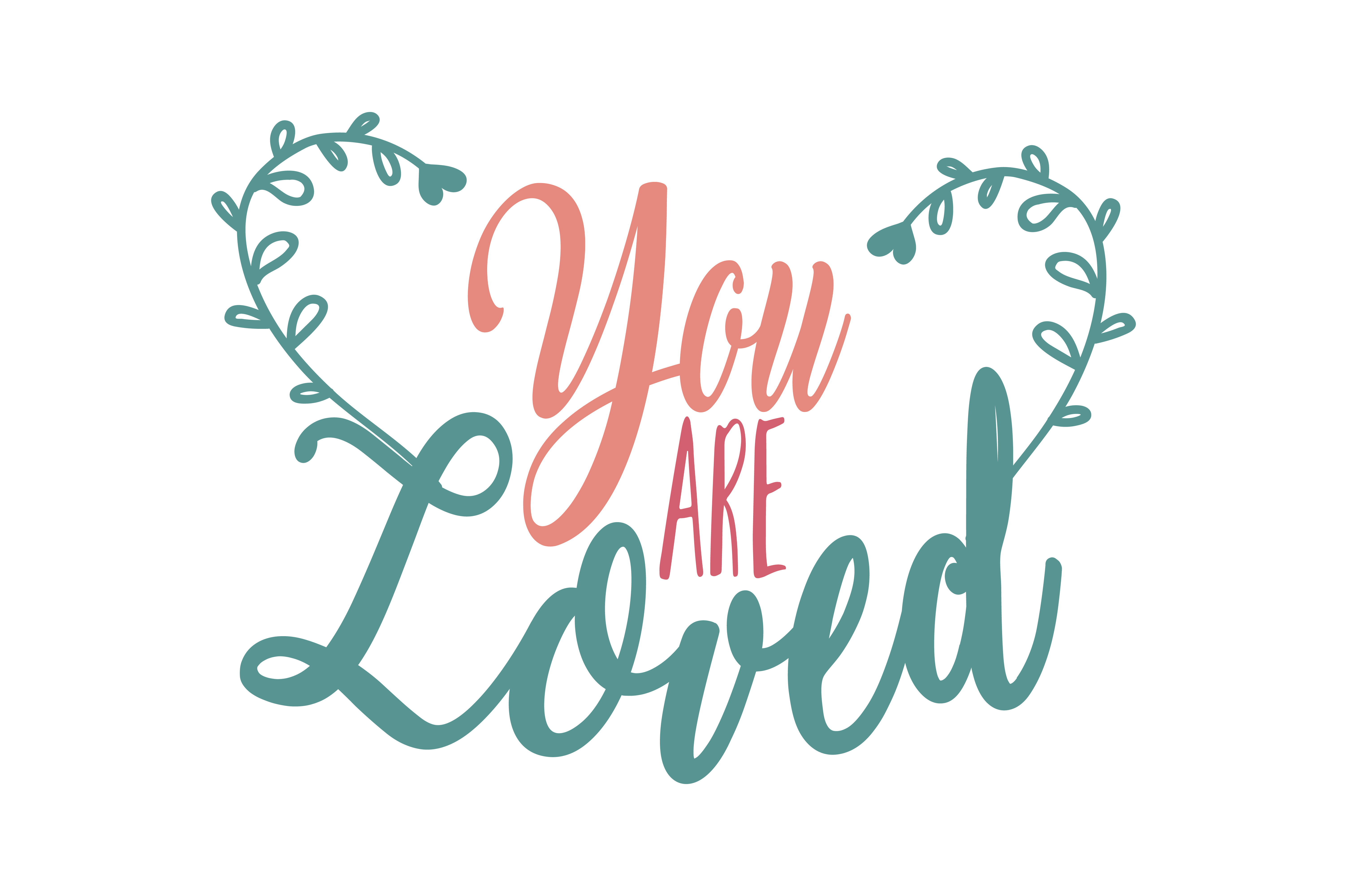 Download Free You Are Loved Quote Svg Cut Graphic By Thelucky Creative Fabrica for Cricut Explore, Silhouette and other cutting machines.