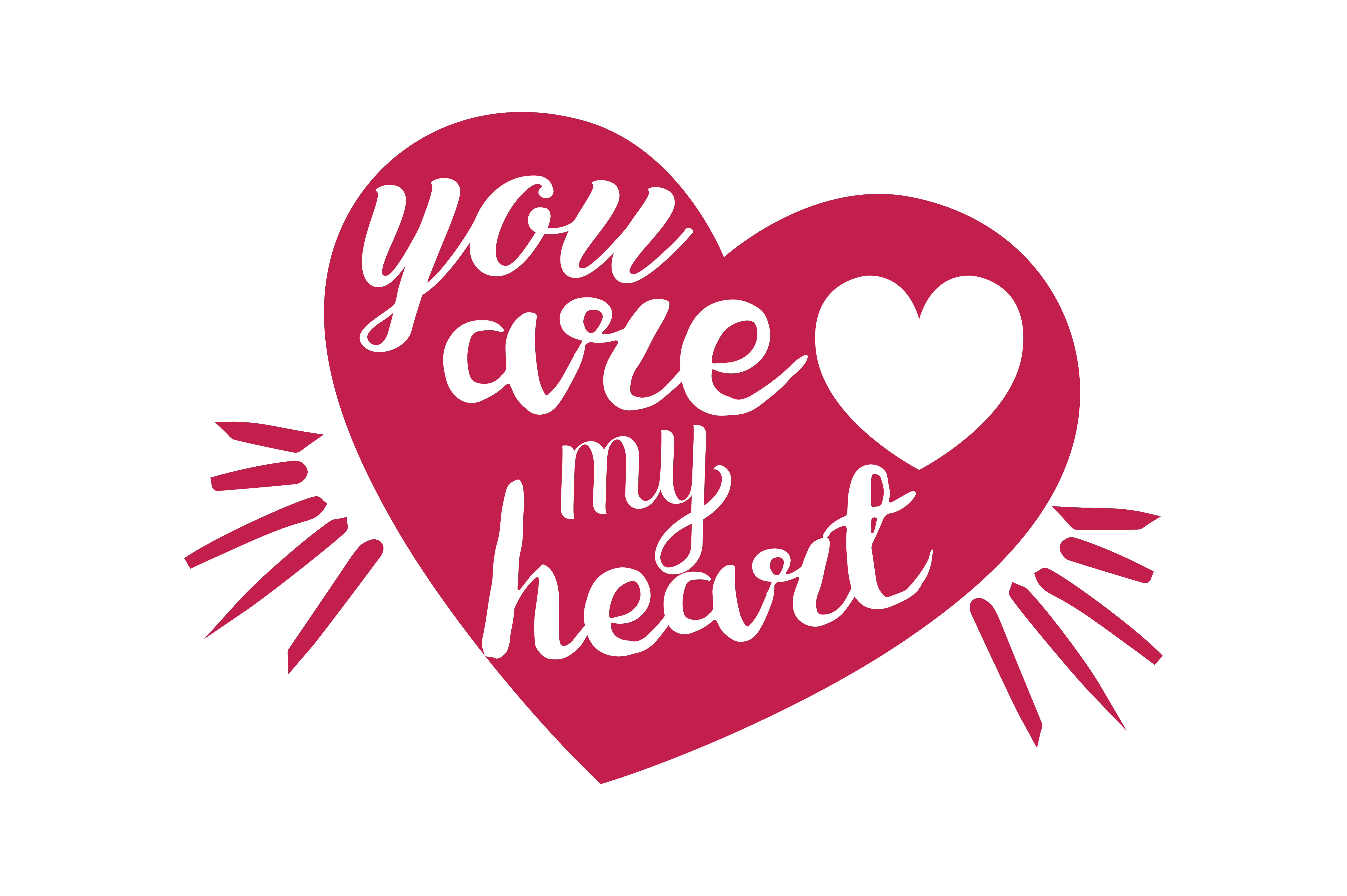 Download Free You Are My Heart Quote Svg Cut Graphic By Thelucky Creative Fabrica for Cricut Explore, Silhouette and other cutting machines.