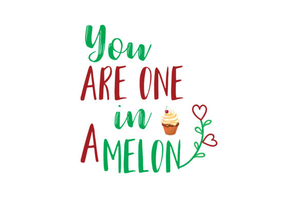 Download Free You Are One In A Melon Quote Svg Cut Graphic By Thelucky for Cricut Explore, Silhouette and other cutting machines.