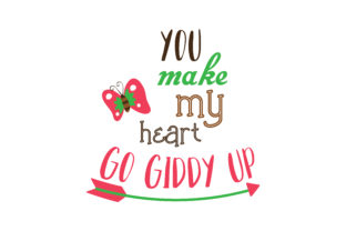 Download Free You Make My Heart Go Giddy Up Quote Svg Cut Graphic By Thelucky for Cricut Explore, Silhouette and other cutting machines.