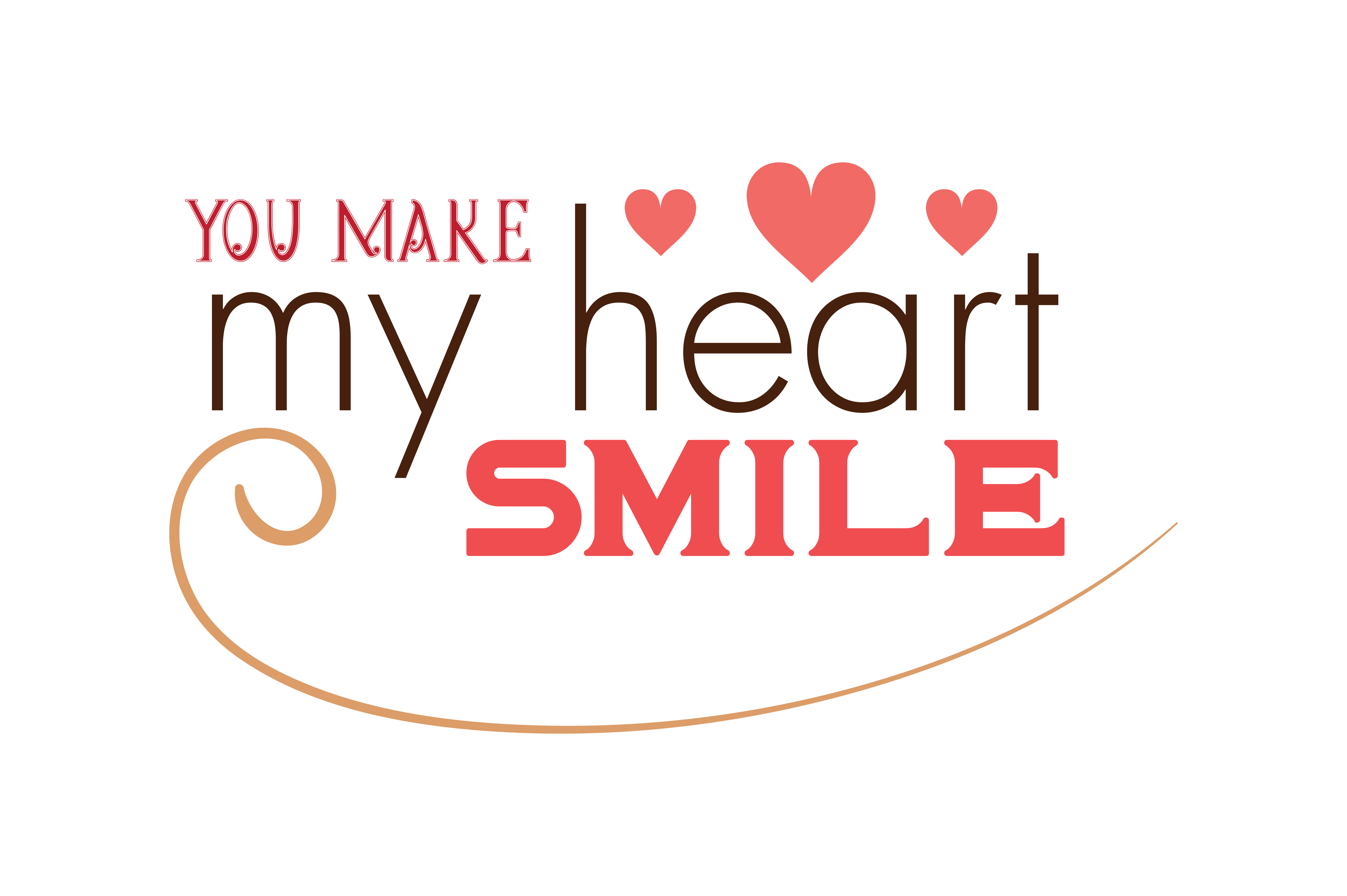 Download Free You Make My Heart Smile Quote Svg Cut Graphic By Thelucky SVG Cut Files