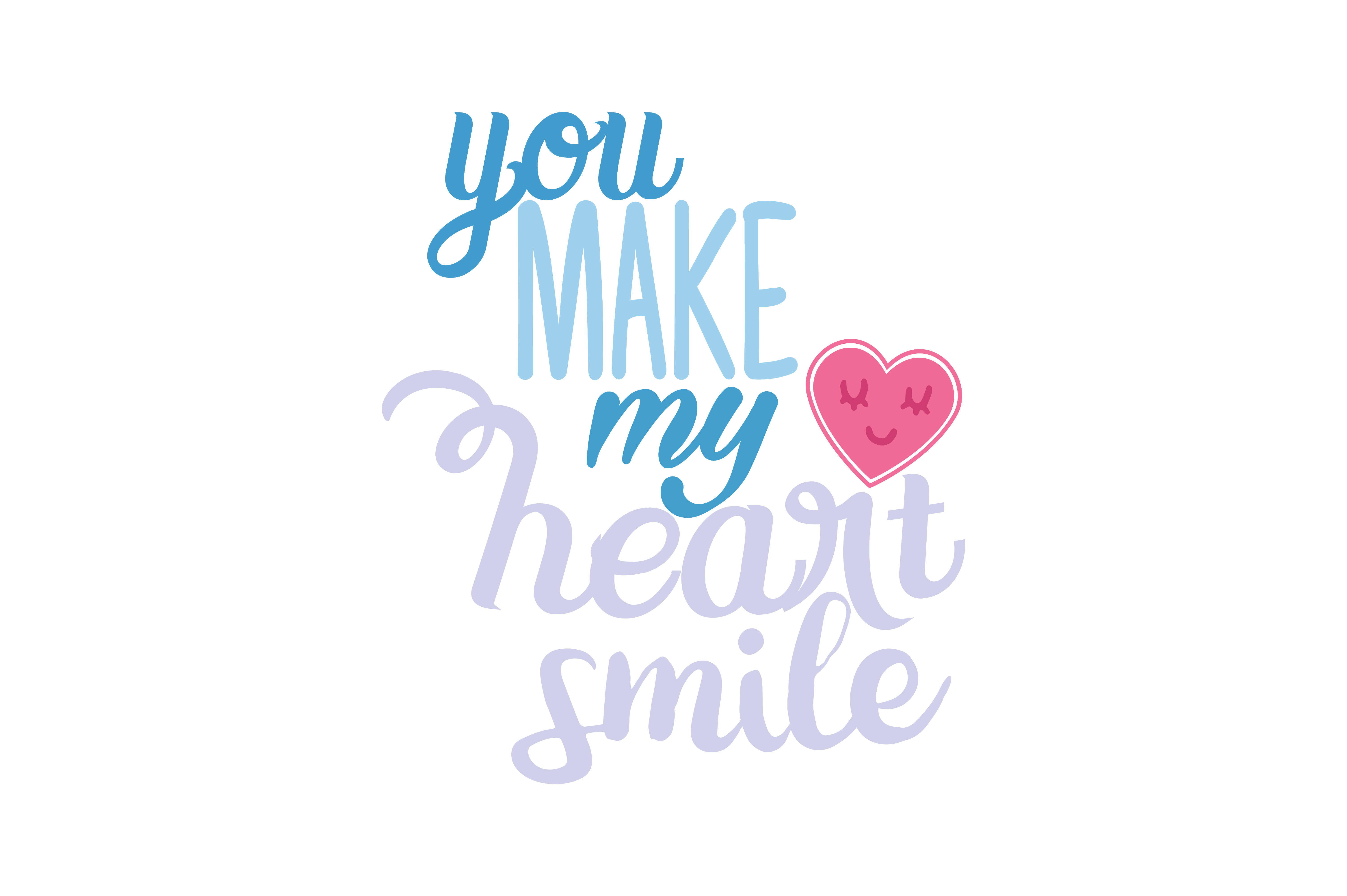 Download Free You Make My Heart Smile Quote Svg Cut Graphic By Thelucky Creative Fabrica for Cricut Explore, Silhouette and other cutting machines.
