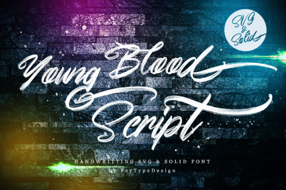 Print on Demand: Young Blood Color Fonts Font By feydesign - Image 1