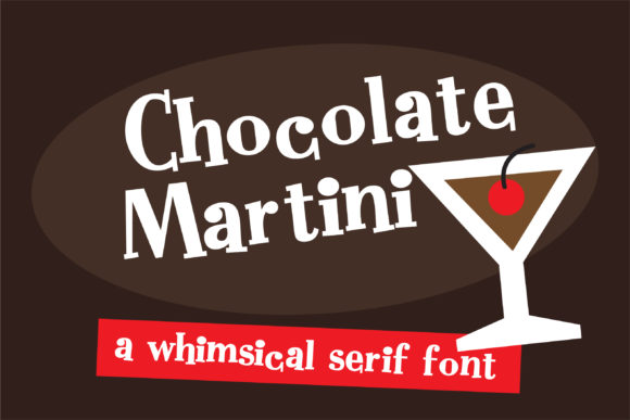 Print on Demand: ZP Chocolate Martini Serif Font By Illustration Ink