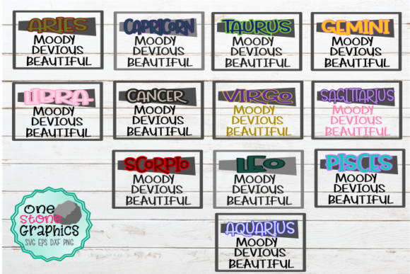 Zodiac Bundle  Graphic Crafts By OneStoneGraphics