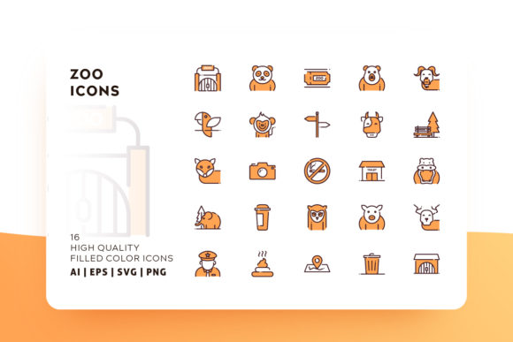 Zoo Filled Color Icon Pack Graphic Icons By Goodware.Std
