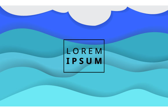 Background Wavy Shapes Composition Graphic By iop_micro