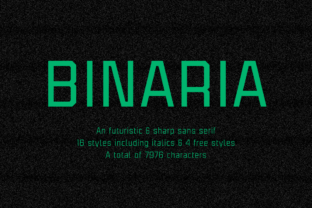 Binaria Family Font By Graviton Font Foundry