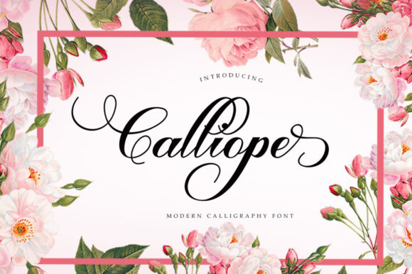 Print on Demand: Calliope Script Script & Handwritten Font By Shape Studio