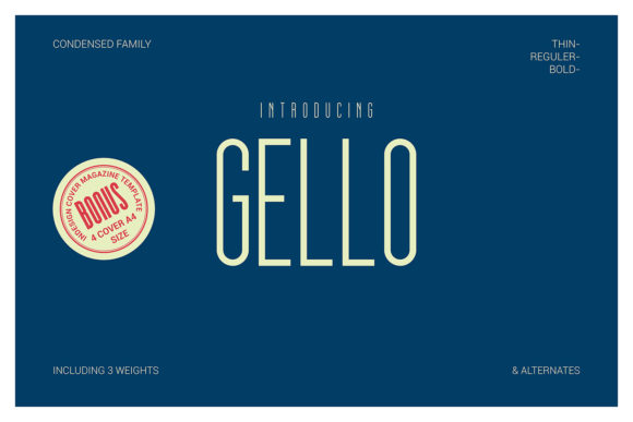 Print on Demand: Gello Display Font By Line creative