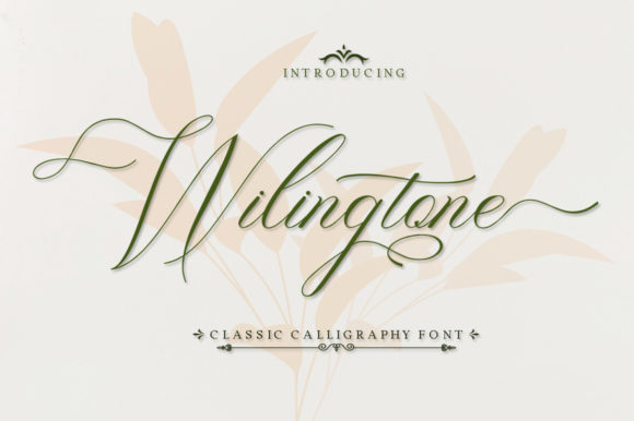 Print on Demand: Wilingtone Script & Handwritten Font By IM Studio