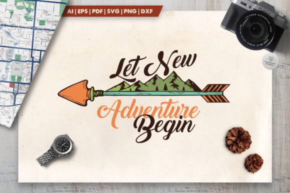 Download Free Vintage Adventure Logo Graphic By Lovepowerdesigns Creative for Cricut Explore, Silhouette and other cutting machines.