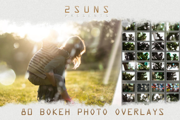 80 Bokeh Photo Overlays Graphic Textures By 2SUNS