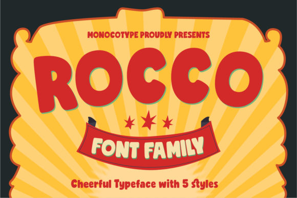 Print on Demand: Rocco Family Display Font By monocotype