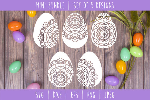 Download Free Mandala Easter Egg Bundle Graphic By Savoringsurprises for Cricut Explore, Silhouette and other cutting machines.