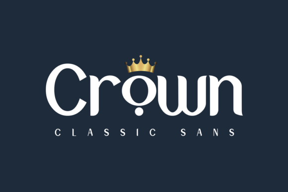 Print on Demand: Crown Sans Serif Font By Omotu