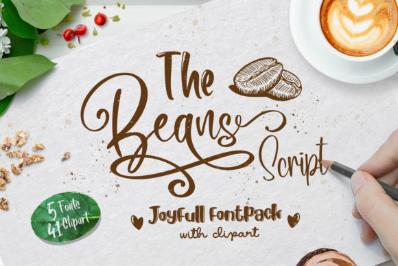 Print on Demand: The Beans Script Display Font By Din Studio