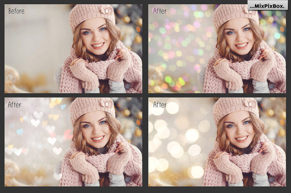 Print on Demand: 100 Bokeh Photo Overlays Graphic Layer Styles By MixPixBox - Image 3