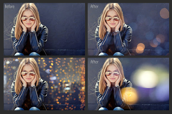 Print on Demand: 100 Bokeh Photo Overlays Graphic Layer Styles By MixPixBox - Image 4