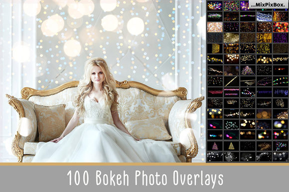 Print on Demand: 100 Bokeh Photo Overlays Graphic Layer Styles By MixPixBox - Image 1