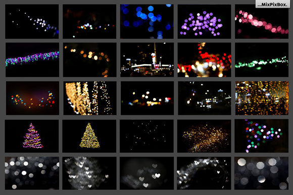 Print on Demand: 100 Bokeh Photo Overlays Graphic Layer Styles By MixPixBox - Image 7