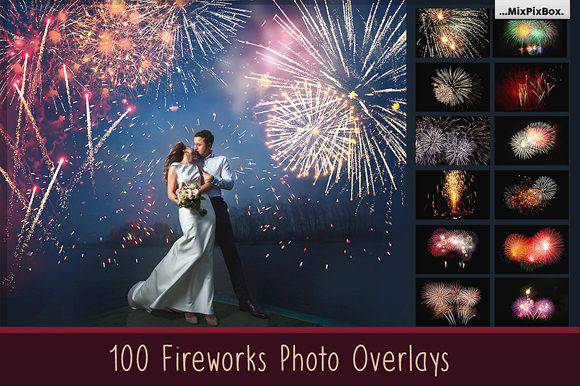 Print on Demand: 100 Fireworks Overlays Graphic Layer Styles By MixPixBox