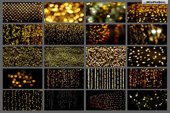Print on Demand: 100 Golden Lights Photo Overlays Graphic Layer Styles By MixPixBox - Image 3